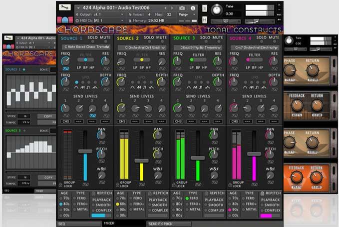 合成器音源Divergent Audio Group Chordscape KONTAKT