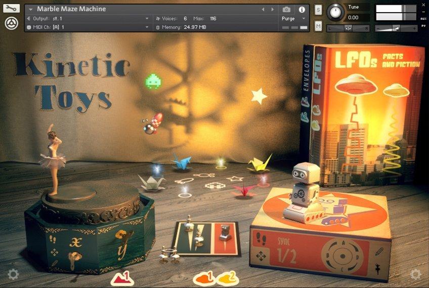 复古玩具音乐盒音源Native Instruments Kinetic Toys KONTAKT