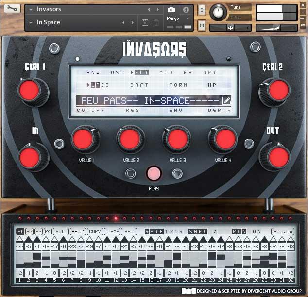 电子合成器音源Divergent Audio Group Invasors KONTAKT