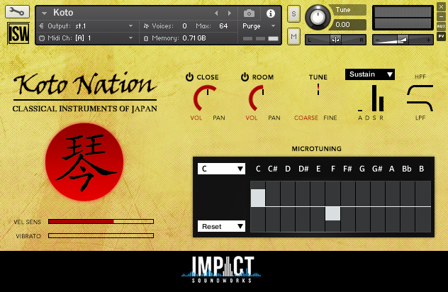 日本古筝音源Impact Soundworks Koto Nation v2.0 KONTAKT