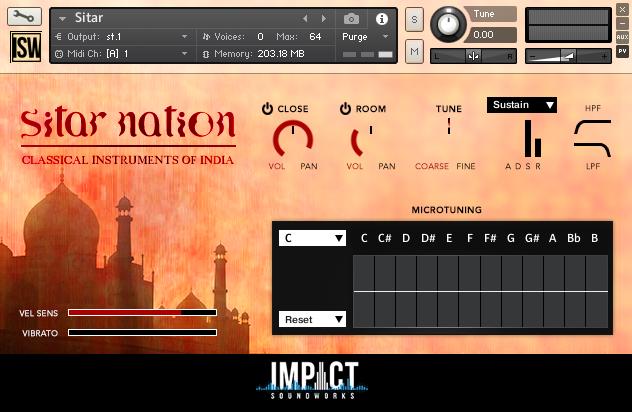印度西塔民族乐器音源Impact Soundworks Sitar Nation v2.0 KONTAKT