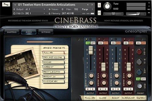 铜管音源CineSamples CineBrass Twelve Horn Ensemble KONTAKT
