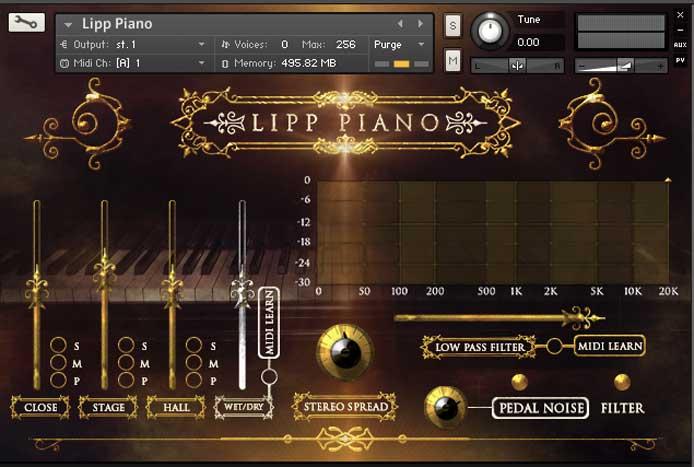 钢琴音源Strezov Sampling LIPP Piano v1.1 KONTA