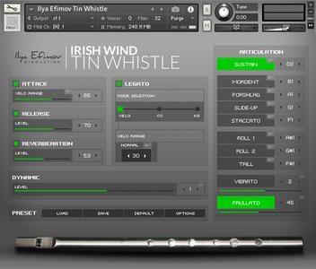 爱尔兰锡笛音源Ilya Efimov Production Irish Tin Whistle KONTAKT