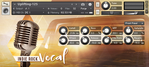 人声音效素材Uplifting Music Studio Indie Rock Vocal KONTAKT音源