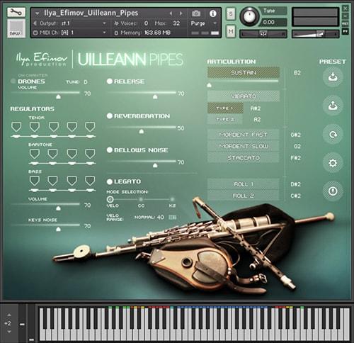 爱尔兰风笛乐器Ilya Efimov Production Uilleann Pipes KONTAKT