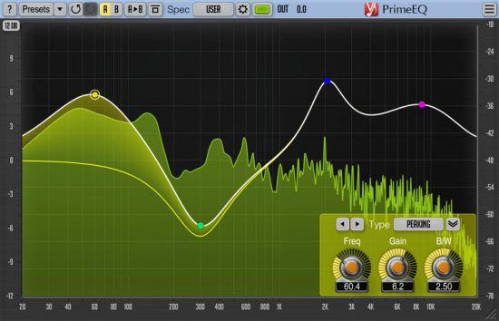 参数EQ均衡效果器Voxengo PrimeEQ 1.3