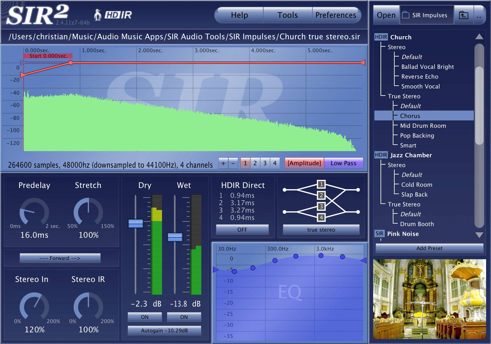 卷积混响效果器SIR Audio Tools SIR2 v2.4.12e WiN&MacOSX