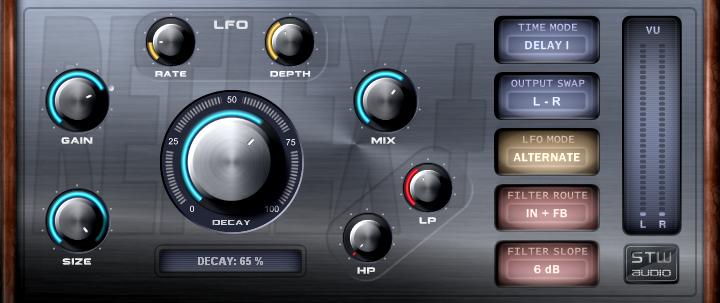 延迟算法混响效果器Stw-Audio REFLEXplus v2.0 WiN MacOSX