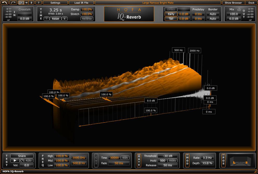 经典卷积混响效果器HOFA IQ-Reverb v1.0.35 WiN