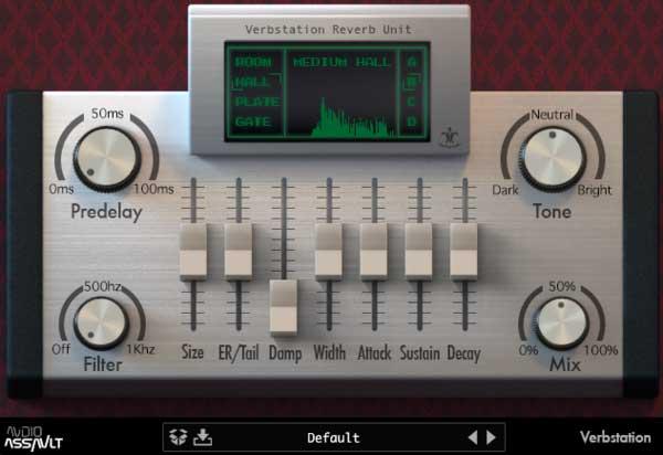 混响效果器Audio Assault Verbstation v1.0 WiN MACos