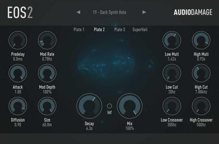 算法混响效果器Audio Damage AD034 Eos v2.0.2 WiN MACOSX