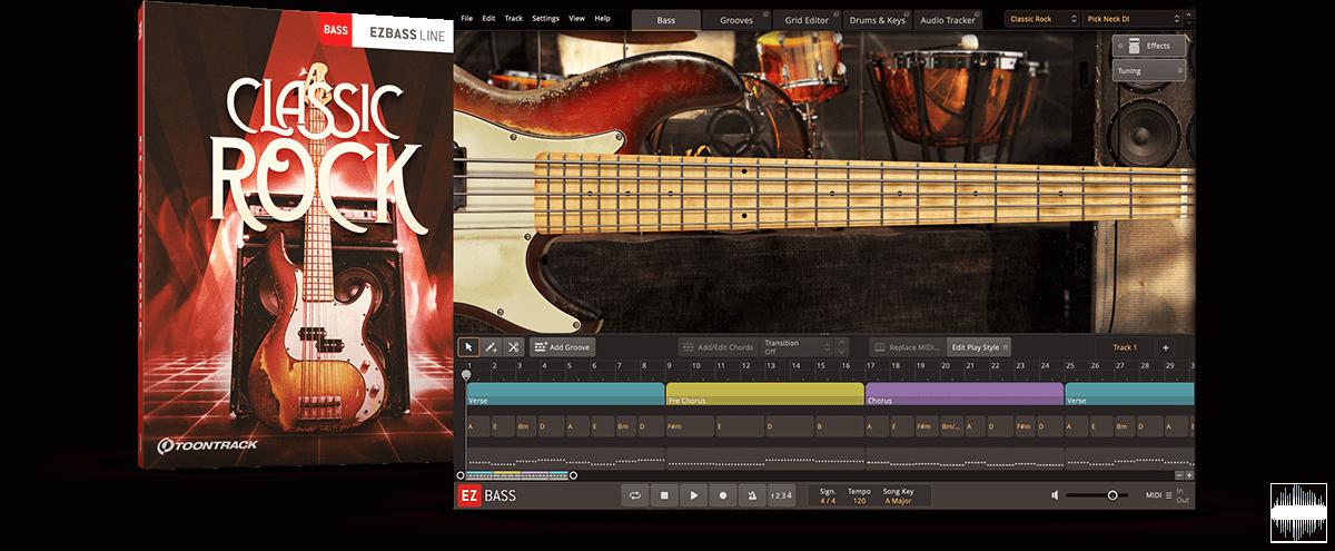贝斯音源Toontrack Classic Rock EBX v1.0.0 WiN&MAC