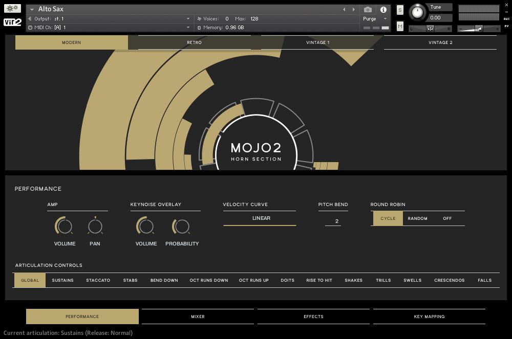 传奇经典铜管音源MOJO 2: Horn Section 1.5