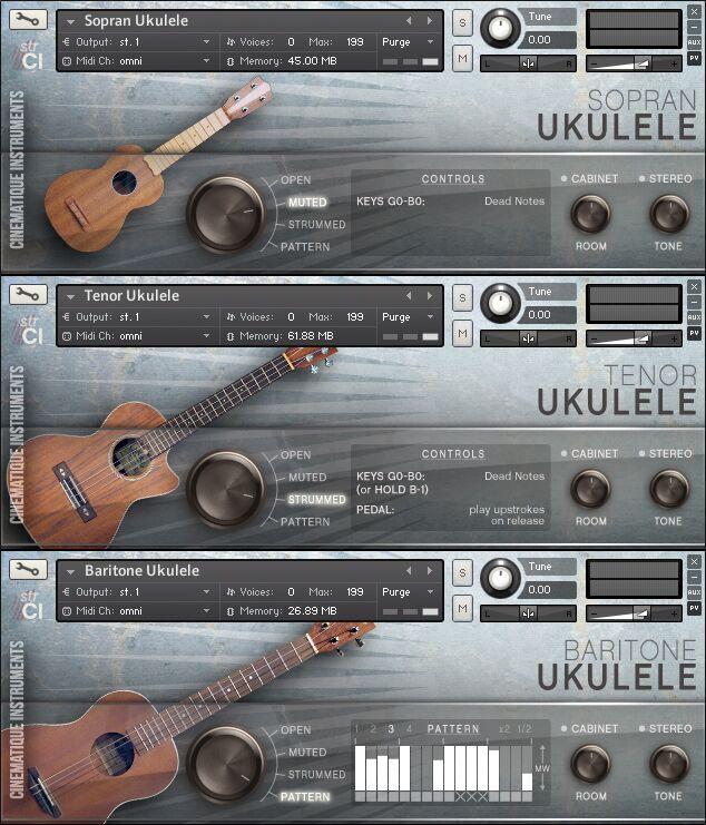 尤克里里音源 Cinematique Instruments Ukulele Trio for Kontakt