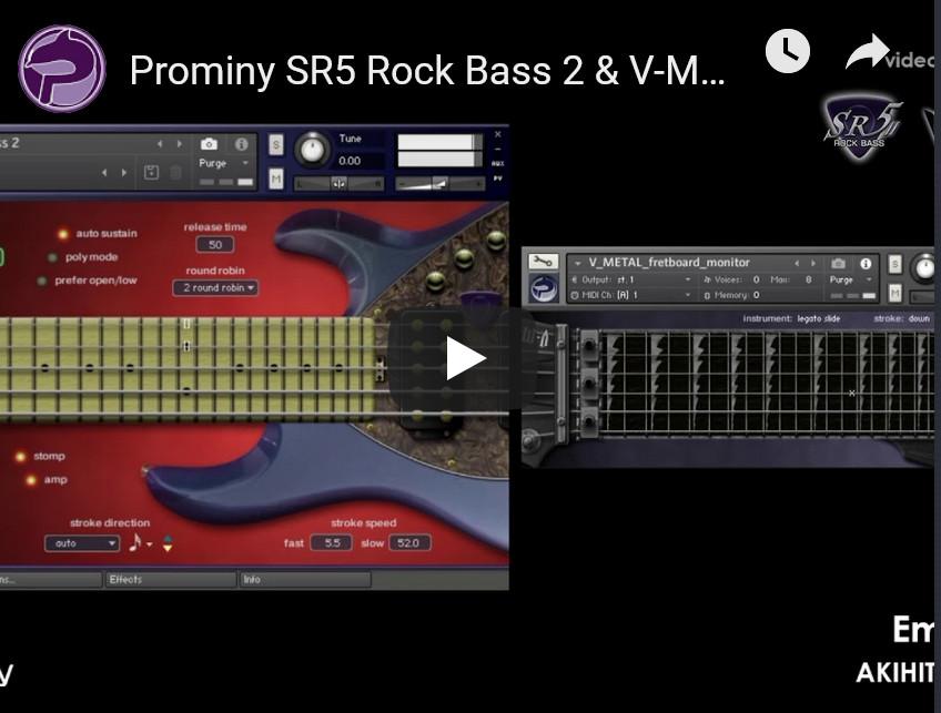 贝斯音源Prominy SR5 Rock Bass 2 v2.01 KONTAKT