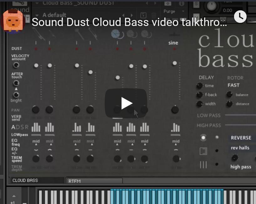 低音贝斯音源Sound Dust Cloud Bass KONTAKT