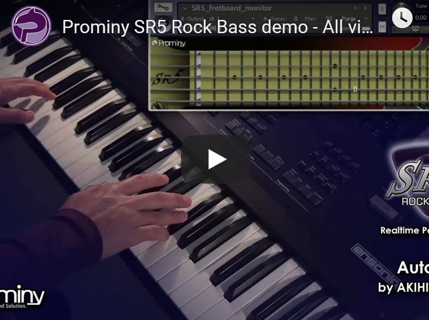 摇滚低音贝斯音源Prominy SR5 Rock Bass v1.12b KONTAKT