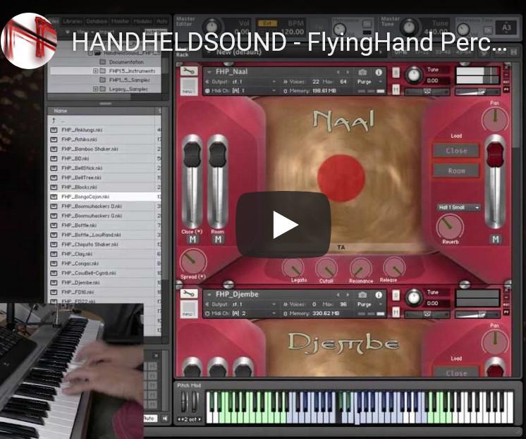 打击乐音源HandHeldSound FlyingHand Percussion v1.5 KONTAKT