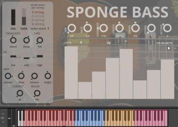 贝斯音源Sound Dust Sponge Bass KONTAKT