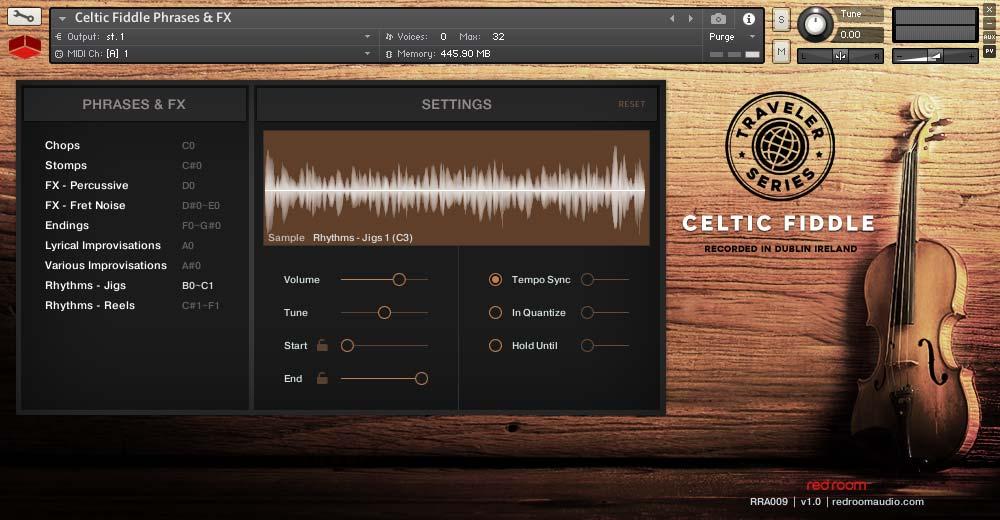 凯尔特小提琴音源Red Room Audio Traveler Series Celtic Fiddle KONTAKT