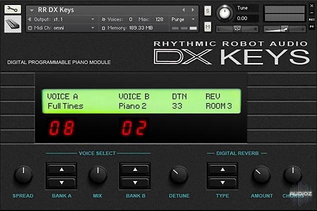 节奏机器人电钢琴音源Rhythmic Robot Audio DX Keys KONTAKT