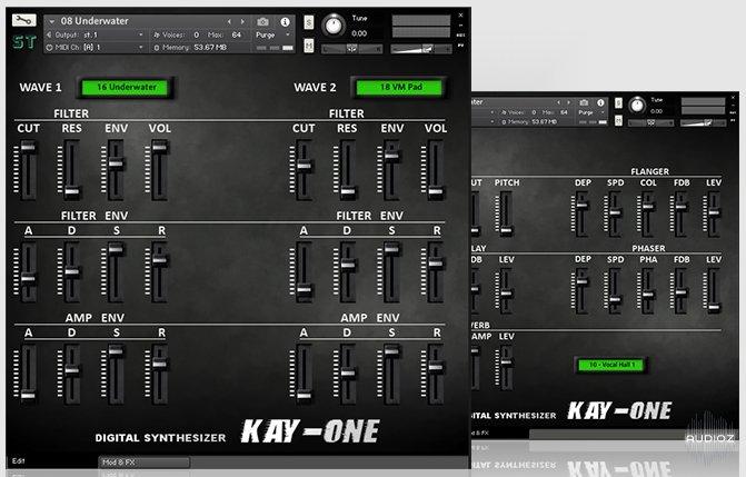Kawai K1数字合成器音源Sampletrip KAY-ONE KONTAKT