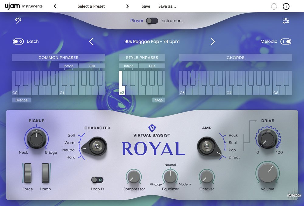 流行贝斯音源UJAM Virtual Bassist ROYAL Library v1.0.0