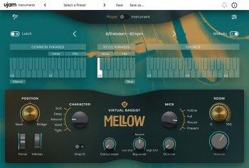 低音提琴贝斯音源UJAM Virtual Bassist MELLOW Library v1.0.0