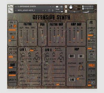 振荡合成器音源Insanity Samples Offensive Synth KONTAKT