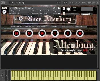 黑色小巧立式钢琴音源Sturmsounds Altenburg KONTAKT