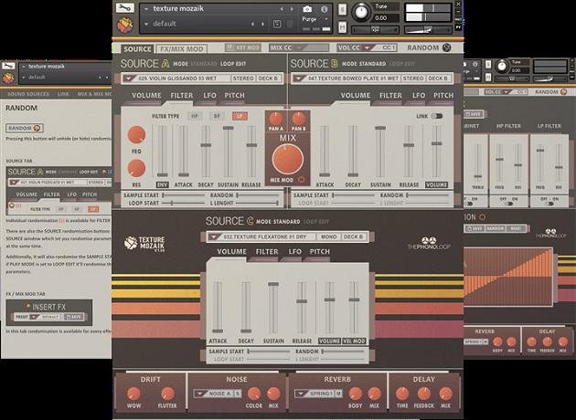 声音合成器音源ThePhonoLoop Texture Mozaik For NATiVE iNSTRUMENTS KONTAKT