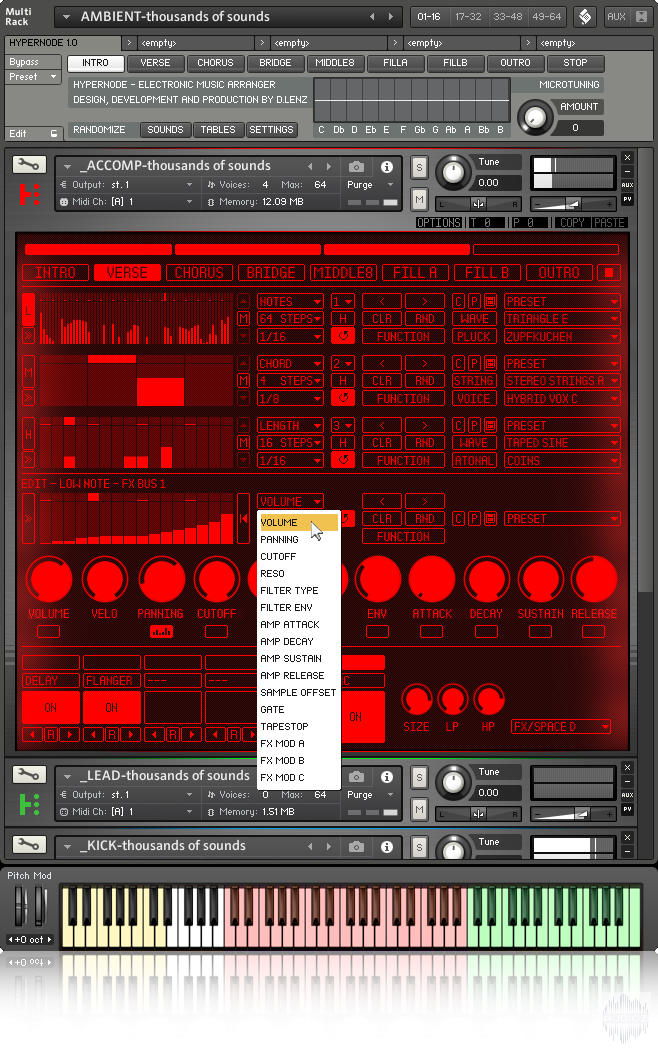 音频编辑器音源Rigid Audio HYPERNODE KONTAKT