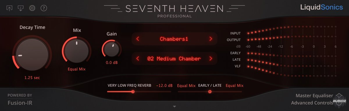 混响效果器LiquidSonics Seventh Heaven Professional Library v1.3.0