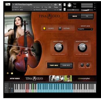 原声大提琴音源Cinesamples Tina Guo Acoustic Cello Legato v1.4 KONTAKT