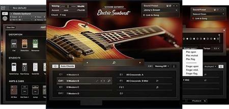 电吉他音源Native Instruments Session Guitarist Electric Sunburst KONTAKT