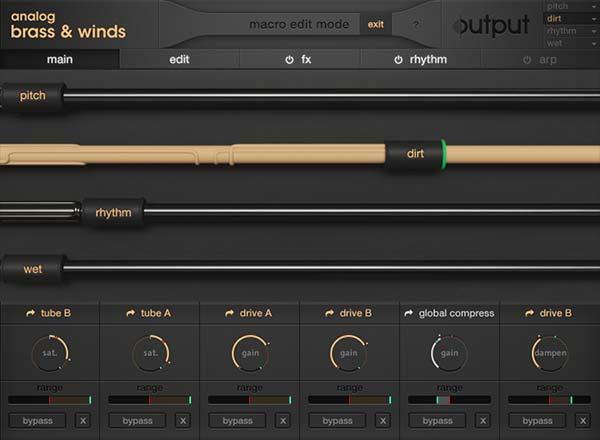 模拟铜管音源Output Analog Brass and Winds KONTAKT