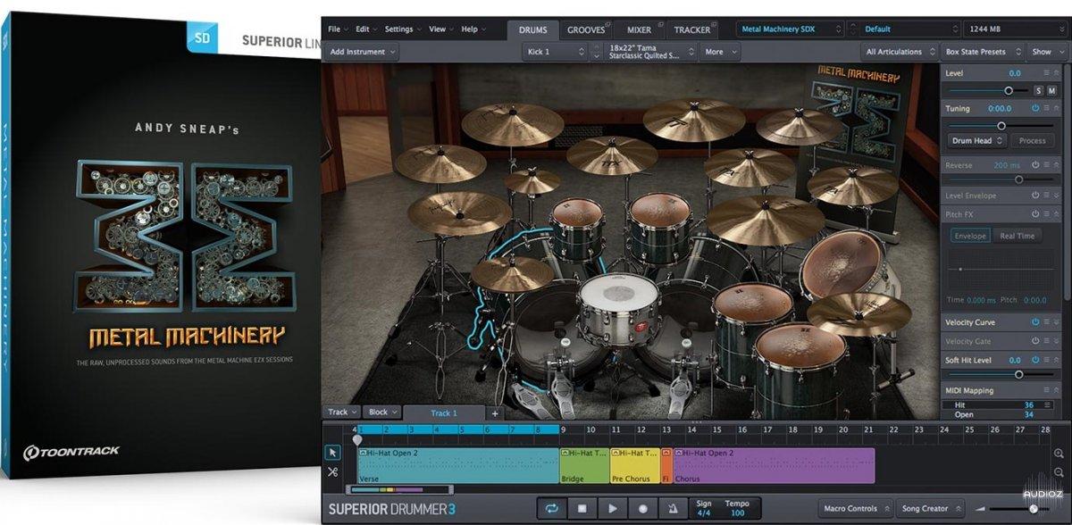 超级鼓手音源Toontrack Metal Machinery SDX v1.5 WiN