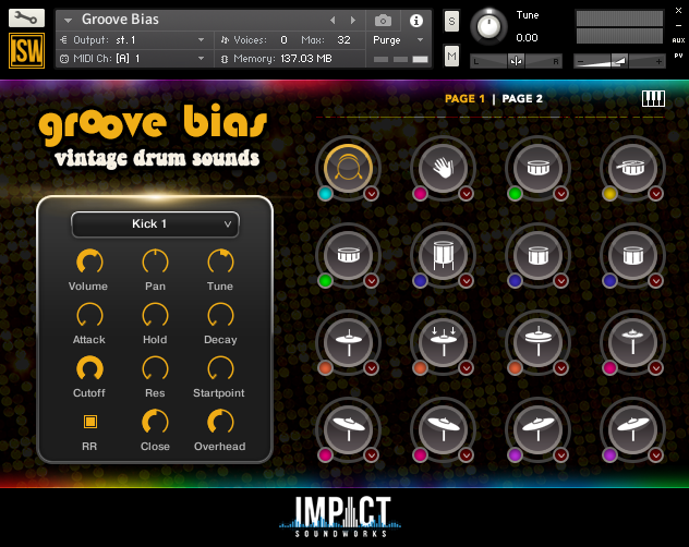 放克鼓音源Impact Soundworks Groove Bias v2 KONTAKT