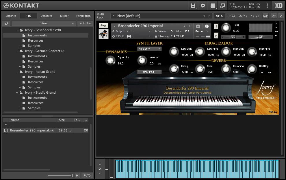 完整版象牙钢琴音源Synthogy带破解器